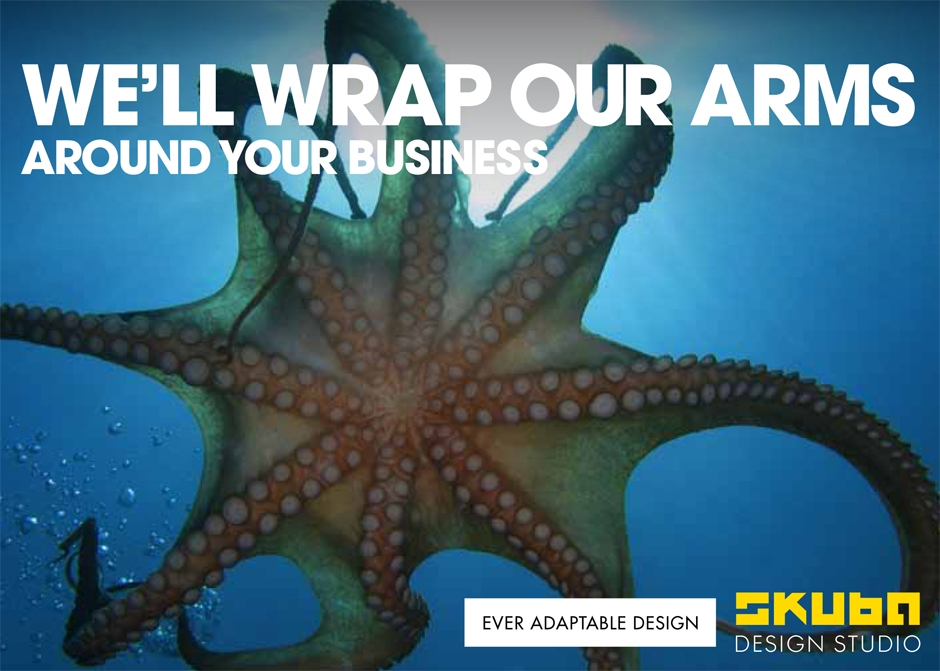 Octopus postcard new orleans small business marketing campaign graphic design  large