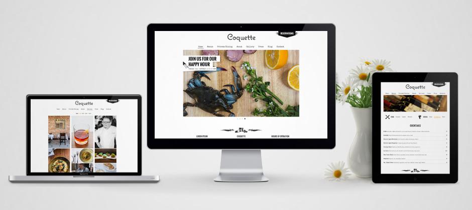 Coquette restaurant website new orleans ipad apple display macbook vase flowers