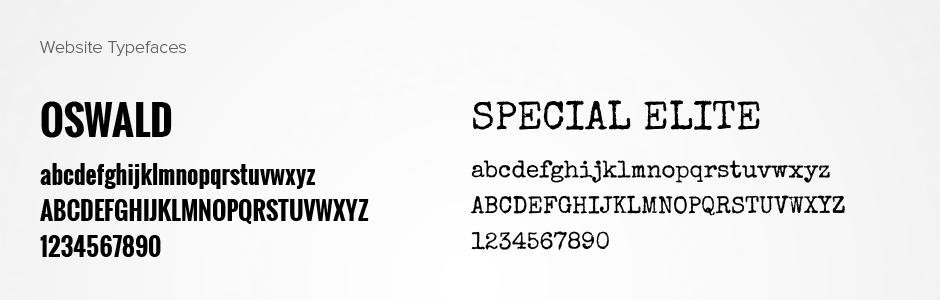 Coquette restaurant website new orleans typefaces oswald special elite fonts