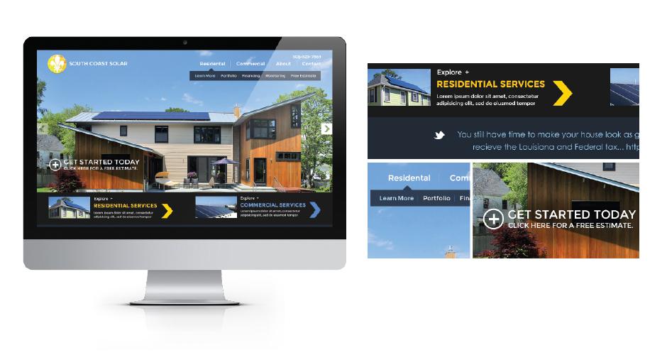 New-orleans-web-design-south-coast-solar-user-interface