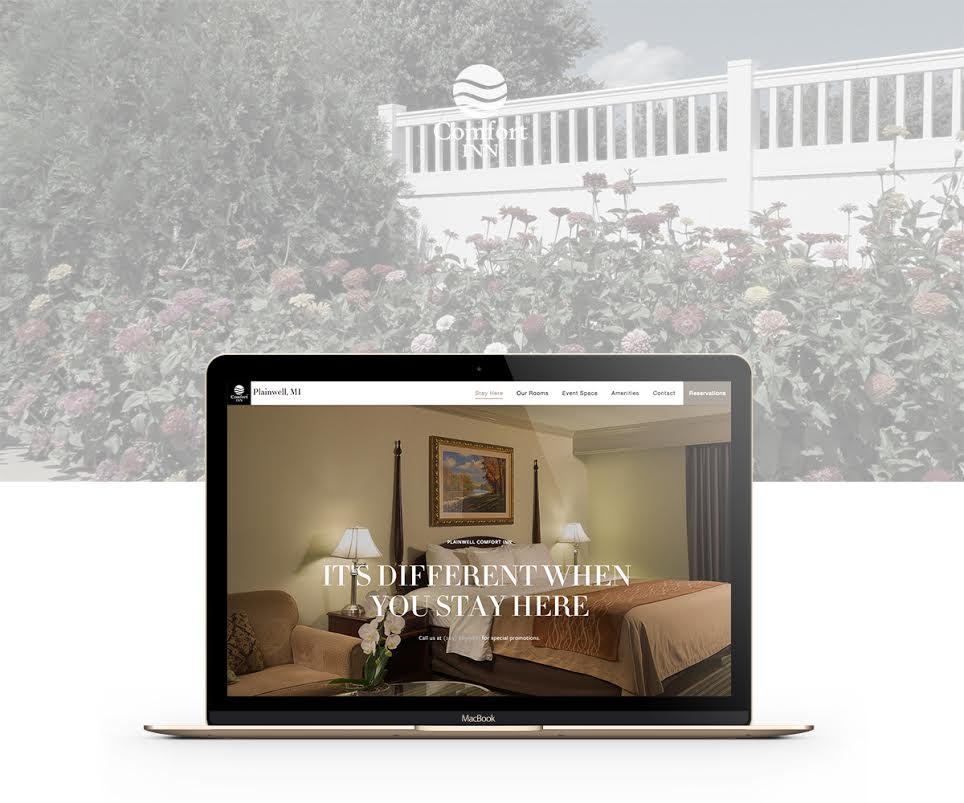 Comfort-inn-plainwell-website-design-and-development-slide-one