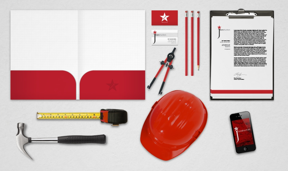 Jcon-construction-new-orleans-stationary-folder-hammer-ruler-helmet-iphone-compas-business-cards-pencils-logo  large