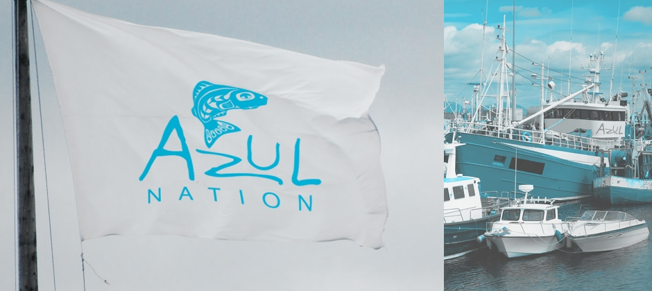 Azul-nation-logo-on-flag-boats-in-ship-yard  large